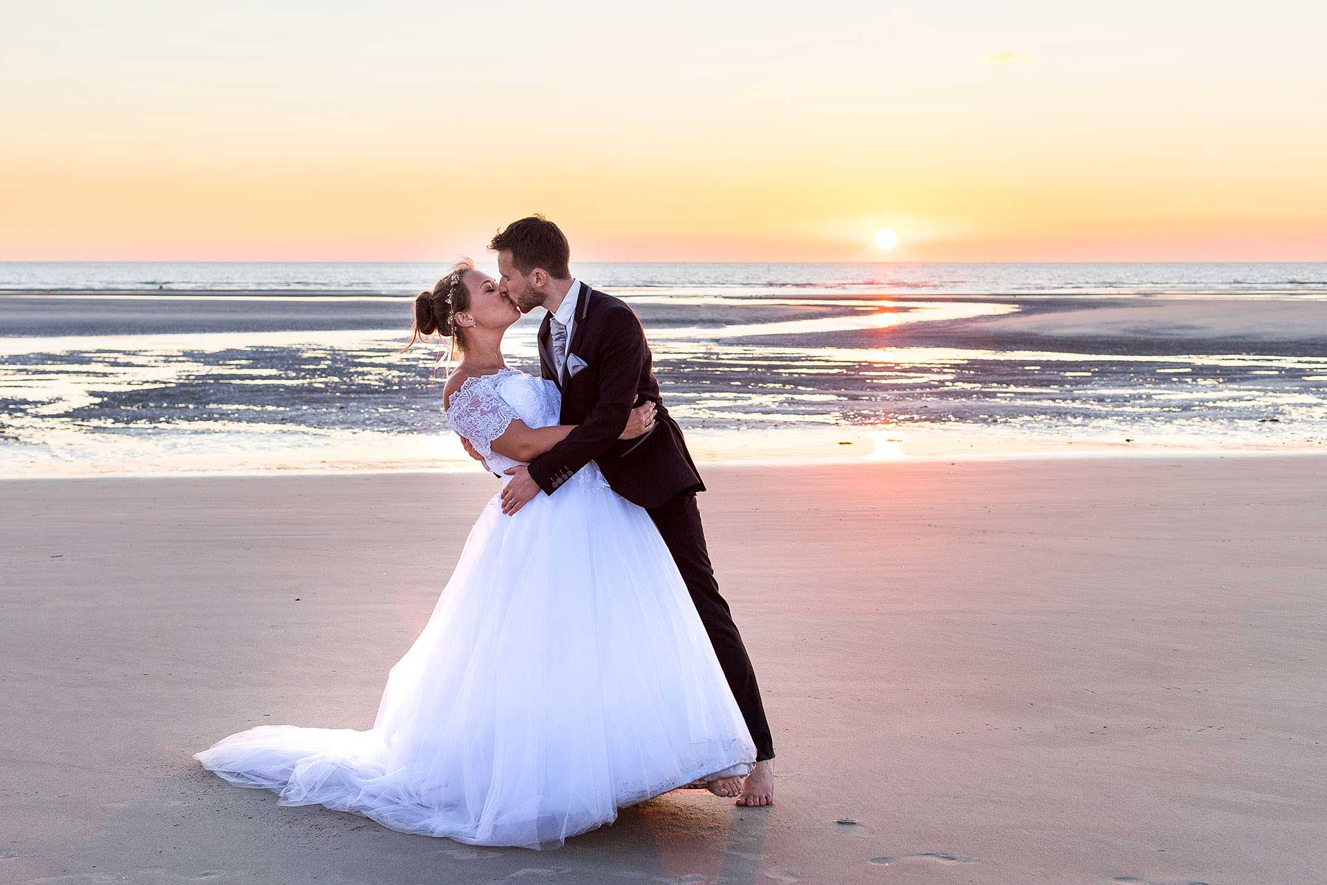 Shooting photo After Day de mariage sur la plage